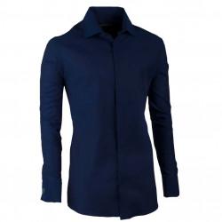 Košeľa na manžetový gombík slim modrá indigo Assante 30429
