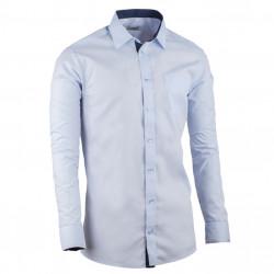 Predĺžená pánska košeľa slim fit modrá Aramgad 20506