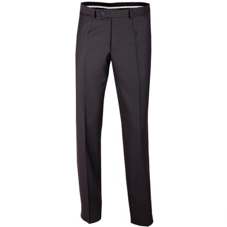 Predĺžené pánske spoločenské nohavice čierne na výšku 182 - 188 cm Assante 60502