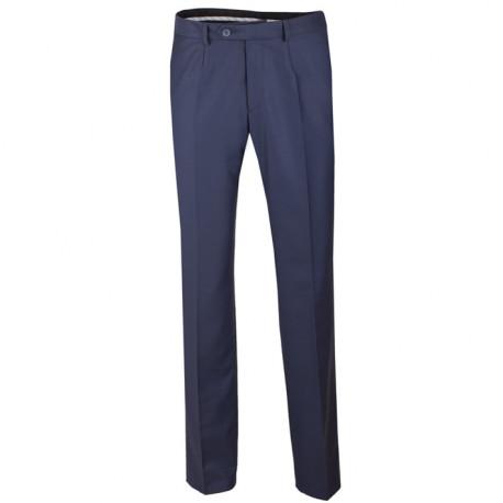 Predĺžené pánske spoločenské nohavice modré na výšku 182 - 188 cm Assante 60522