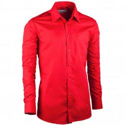 Červená pánska košeľa slim fit s dlhým rukávom Aramgad 30384