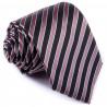 Čierna pruhovaná kravata Greg 91201