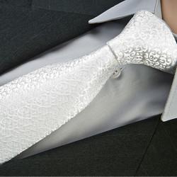 Svadobná kravata biela Greg 91207