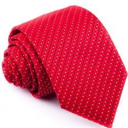 Červená kravata s bodkami Greg 93189