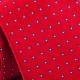 Červená kravata modré štvorčeky Greg 93198