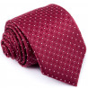 Bordó kravata biele bodky Greg 93206
