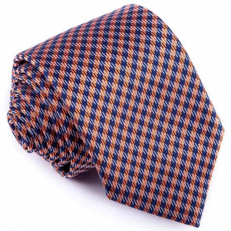Kravata modrooranžová vzorka Greg 94264