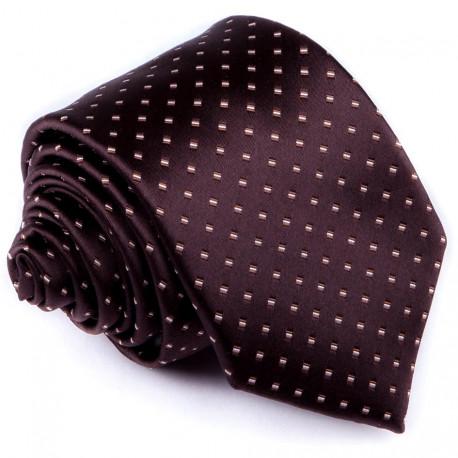 Hnedá elegantná kravata Greg 92890