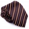 Hnedá kravata pruhovaná Greg 92891