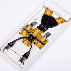 Luxusné žlté traky kožená pútka Assante 90028