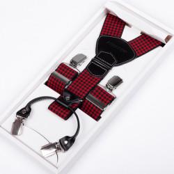 Luxusná červenočierne traky kožená pútka Assante 90042