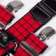 Luxusné červené traky kožená pútka Assante 90048