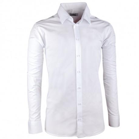 75b72de917fd Pánska svadobná košeľa biela vypasovaná Aramgad 30045