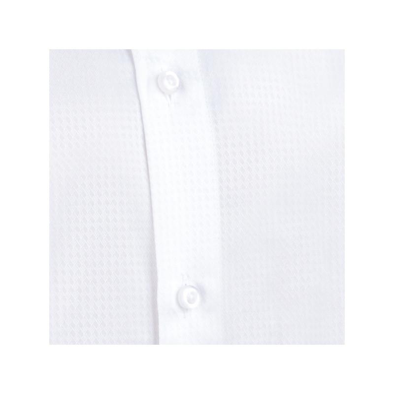 bf04cff6b8be Pánska svadobná košeľa biela vypasovaná slim fit Aramgad 30046