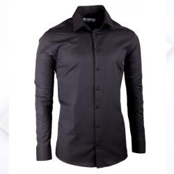 Čierna elegantná košeľa vypasovaná slim fit Aramgad 30139