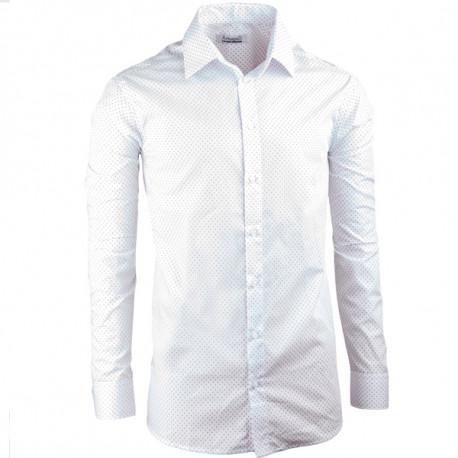 Biela elegantná košeľa vypasovaná slim fit Aramgad 30047