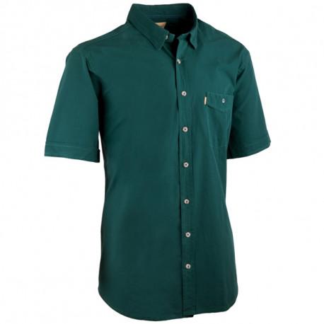 Petrolejová pánska košeľa krátky rukáv rovný strih Tonelli 110819