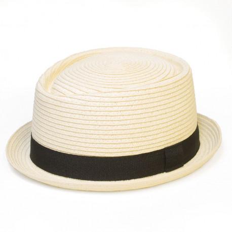Letný klobúk farba smotanová Assante 161245