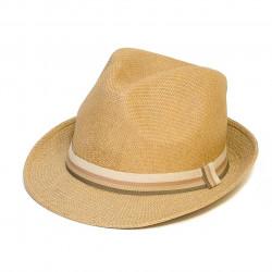 Letný klobúk farba piesková Assante 161242