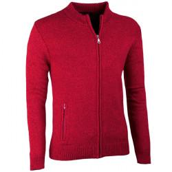Bordó pánsky sveter na zips Assante 51014