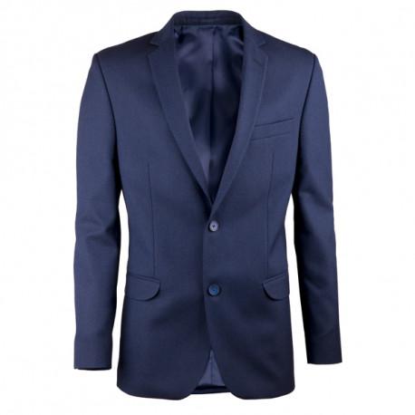 08faef927738b Predĺžené pánske sako modré Assante 60005