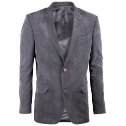 Predĺžené pánske sako sivé Assante 60006