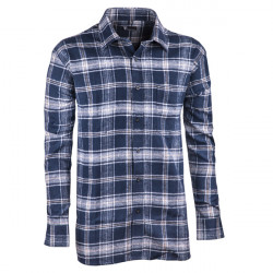 dc1eaa9550ae Modrá flanelová košeľa s dlhým rukávom rovná Friends and Rebels 30817