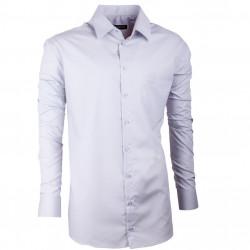 Extra predĺžená pánska košeľa slim fit šedá Assante 20119