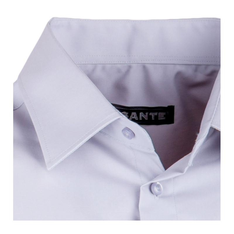a56f8095121e ... Extra predĺžená pánska košeľa slim fit šedá Assante 20119 ...