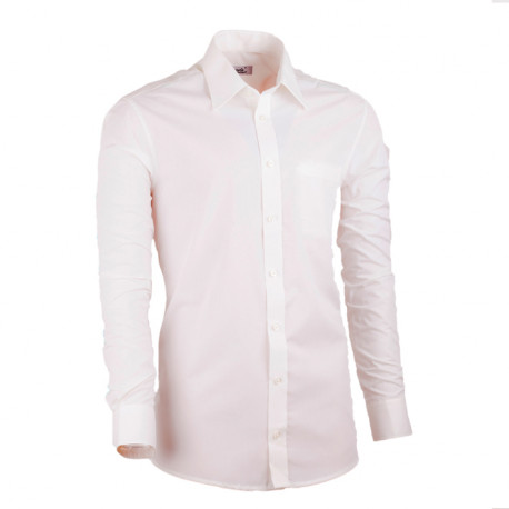 Extra predĺžená pánska košeľa slim fit šampaň Assante 20214