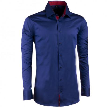 Kobaltovo modrá pánska košeľa slim 100% bavlna non iron Assante 30487