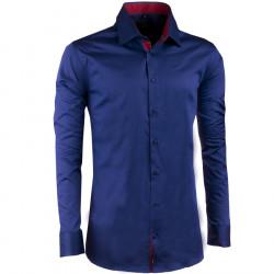 Predĺžená pánska košeľa slim kobaltová Assante 20407