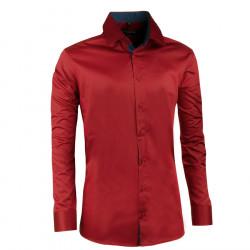 320bf0125e54 Extra predĺžená pánska košeľa červená... Elegantná predĺžená košele.