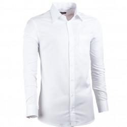 Biela pánska košeľa slim fit XS Assante 30048