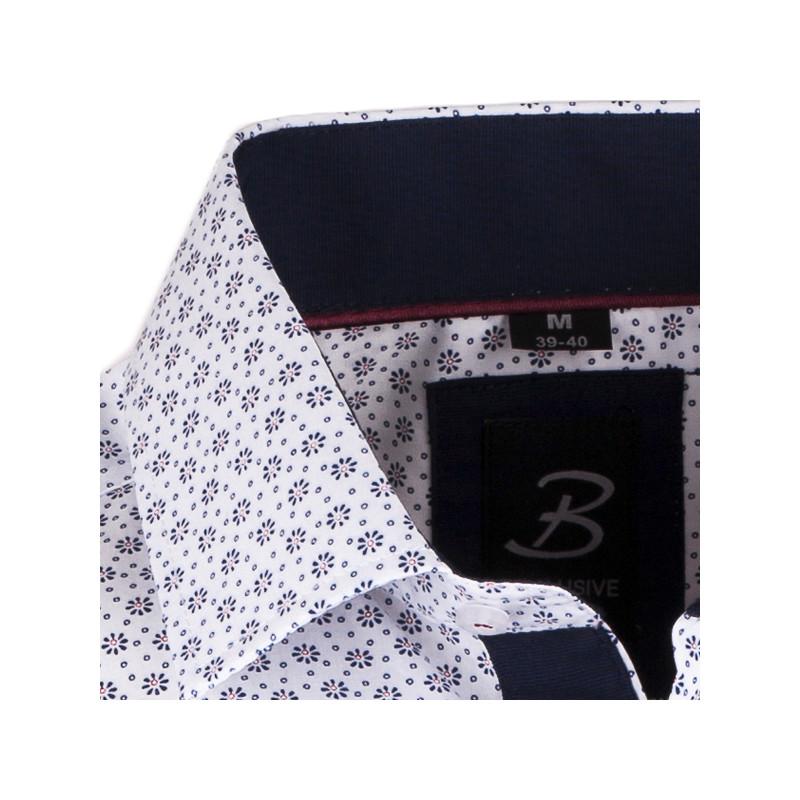 4715541b7a43 Bielomodrá pánska košeľa slim fit Brighton 109943