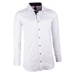 d581fa5ce30b Bielomodrá pánska košeľa slim fit Brighton... Elegantná značková ...