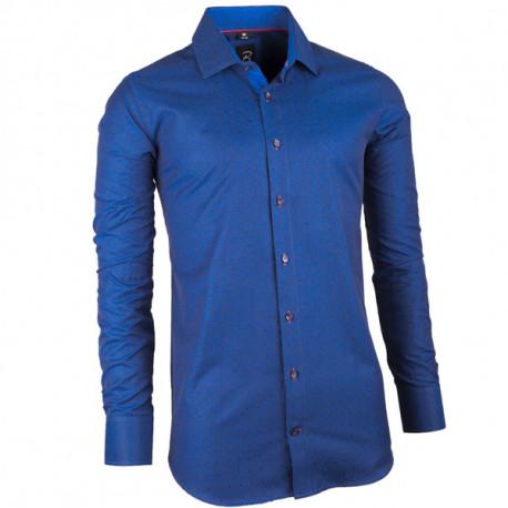 ac222098e845 Modrá pánska košeľa slim fit Brighton 109947