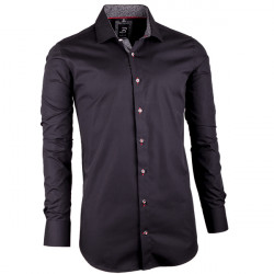 Čierna pánska košeľa slim fit 100% bavlna Brighton 109949