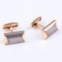 Manžetové gombíky zlato-striebornú Assante 90531