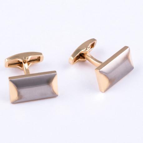Manžetové gombíky zlato-striebornú farby Assante 90531