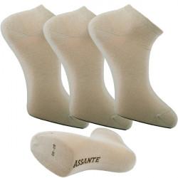 Multipack ponožky béžovej členkové Ag Assante 782