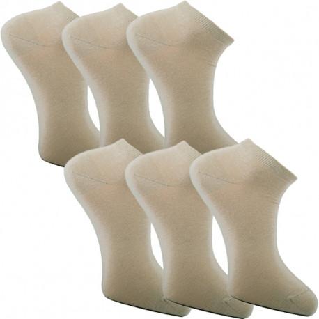 Multipack ponožky 6 párov béžovej antibakteriálne členkové Ag Assante 784