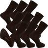 Multipack ponožky 9 párov bambusové čierne pánske Assante 793