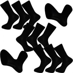 Multipack ponožky 9 párov bavlnené čierne pánske Assante 703