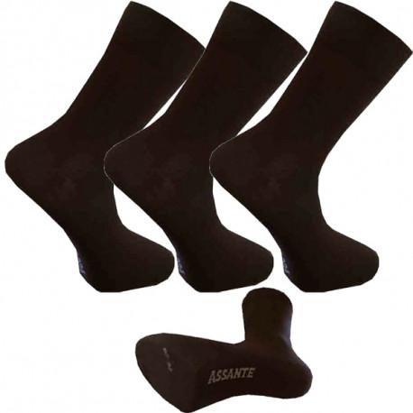 Multipack ponožky 3 páry hnedé antibakteriálne so striebrom Assante 720