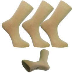 Multipack ponožky 3 pár béžovej antibakteriál striebro Assante 73