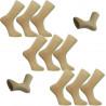 Multipack ponožky 9 párov béžovej antibakteriálne so striebrom Assante 732