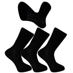 Multipack ponožky 3 páry čierne froté chodidlo Antibakteriál Assante 740