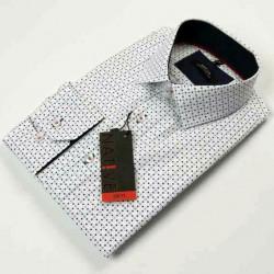 Biela pánska košeľa dlhý rukáv vypasovaný strih Native 120007