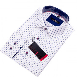 Biela pánska košeľa dlhý rukáv vypasovaný strih Native 120004